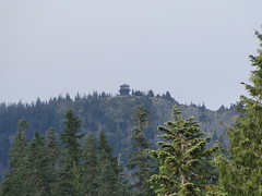 Tolmie lookout from Mowich Lake campground.