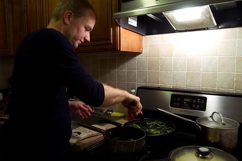 Morten cooking