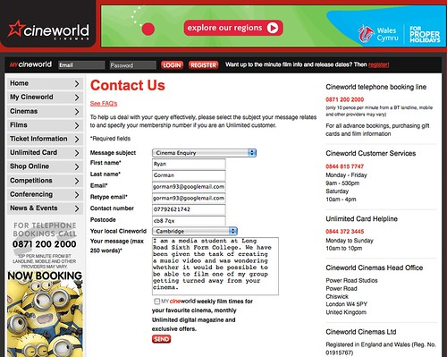 T1-33 Cineworld email