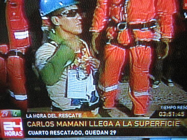 minero Boliviano Carlos Mamani rescatado