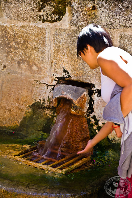 MuiMui Touching The Very Hot Spring At Chaudes-Aigues