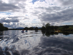 The constantly changing skies of the Cairngorm National Park are reflected and best appreciated from a kayak