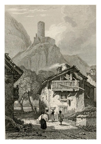 002-Martigny-The tourist in Switzerland and Italy-1830-Samuel Prout