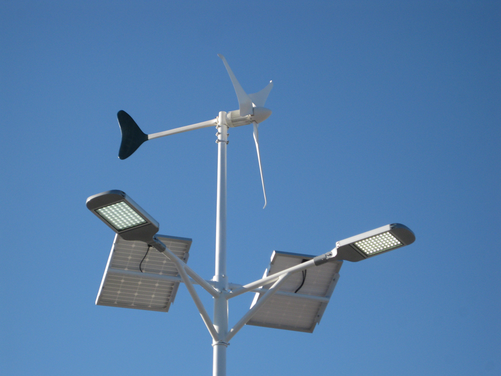Turbine Powered, Solar Powered Lights