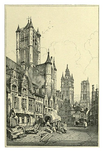 024-Gante-Sketches by Samuel Prout in France Belgium….1915
