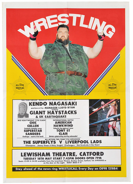 wrestling poster, catford