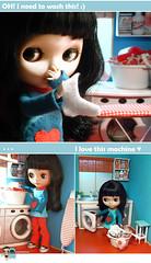 My dollhouse - Emília doing laundry :)