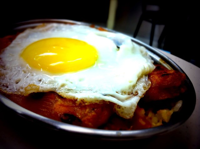 港式焗豬排飯+蛋