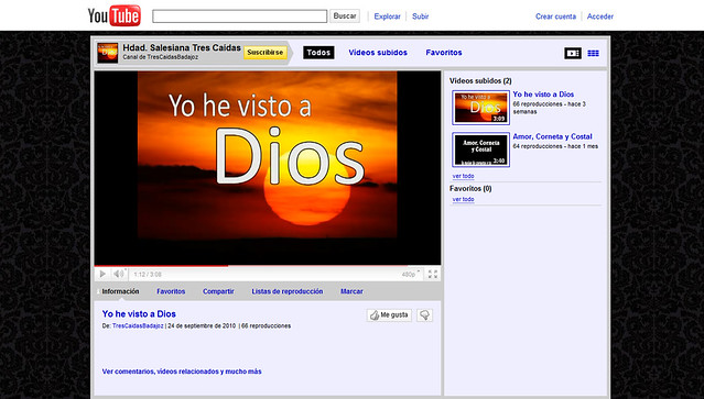 Ve nuestro canal en Youtube