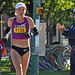 Olena Shurkno at 23 Mile Mark ©Bill Hughes: Winner of the Women's Marathon