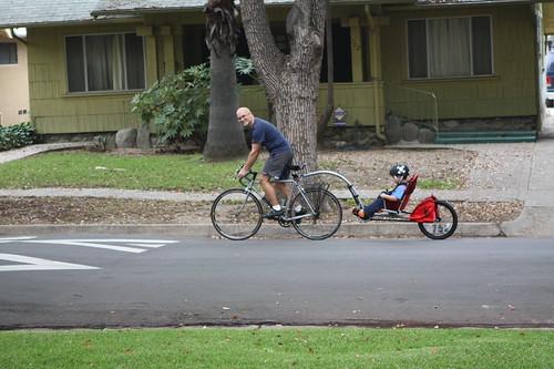 The new bike trailer!