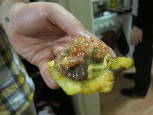 WOAH - 4 different dips on that fried plantain!