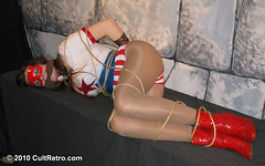 Sleepy Stormy Tempest (CultRetro) Tags: bondage rope retro sleepy ko comicbook heroine cult gag sciencefiction peril unconscious damselindistress superheroine billblack ryona femforce cultretro accomics nicolarae stormytempest