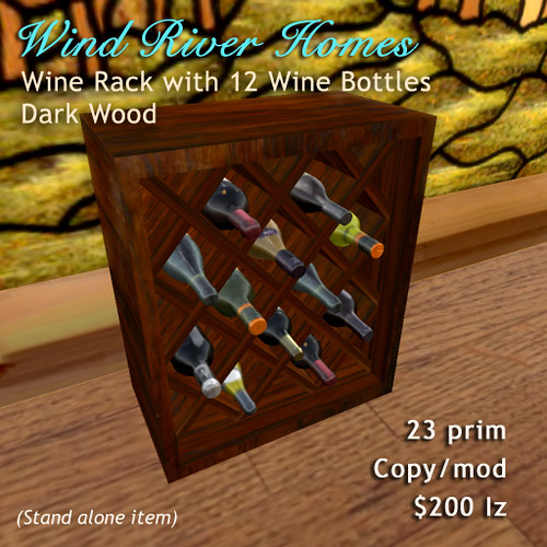 Wine Rack - Dark Wood by Teal Freenote