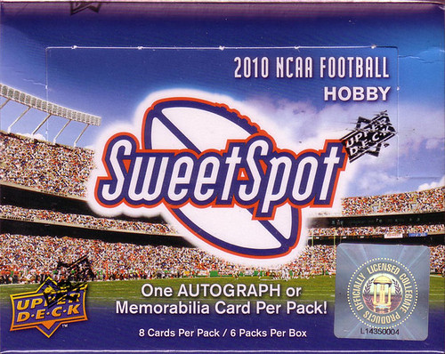 2010 Upper Deck NCAA Sweet Spot box