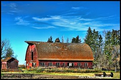 HDR #843 - Barn (Pete's Photo Magic) Tags: old house canada abandoned barn vintage psp wooden log pentax alberta hdr topaz photomatix k20d