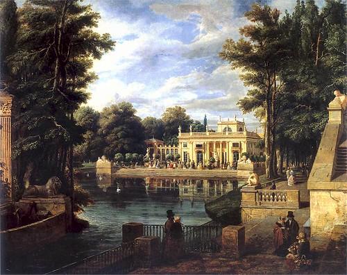 Widok pałacu w Łazienkach latem - Marcin Zaleski