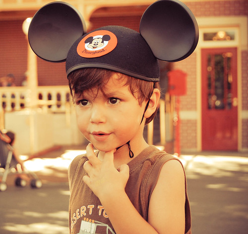 His Mickey ears!!