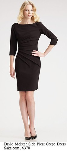 Saks.com - David Meister - Side Pleat Crepe Dress