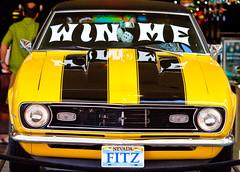 Win Me (Thomas Hawk) Tags: auto vegas usa chevrolet car yellow america automobile unitedstates lasvegas nevada unitedstatesofamerica casino camaro chevy fremontstreet fremontst clarkcounty