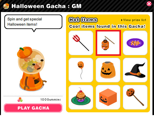 Halloween gacha - week 4