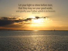 Let Your Light Shine (LoganWeileriii) Tags: ocean sunset wallpaper clouds heaven matthew free australia queensland bibleverse desktoppics goodworks letyourlightshine loganweileriii crystalvenus