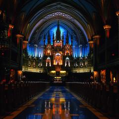 Spectacular (Alex Luyckx) Tags: urban church cathedral quebec montreal basilica notredame rap fujichrome romancatholic rolleiflex28f astia placeofworship carlzeissplanar80mm128