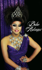Bebe Adams (yourborneo) Tags: city gay portrait oklahoma fashion drag mac lashes purple transformation curves makeup queen greeneyes wig glam sultry dragqueen okc eyeshadow processed vignette oklahomacity heavymakeup maccosmetics brows glamourous gaycommunity