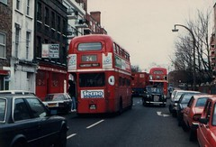 CF's RML2504 amidst bad parking in Ferdinand St en route to Hampstead. (island traction) Tags: bus london buses chalk farm garage transport route 24 routemaster 31 68 rm rml