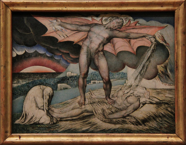 Satan Smiting Job with Sore Boils, William Blake, about 1826
