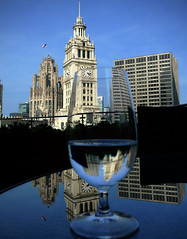 Double Your Pleasure - Plus 1 (like the gum) - not the Cubs (doug.siefken) Tags: city blue light summer vacation sky urban food usa chicago reflection building tower art clock water glass beauty architecture river skyscape table fun illinois high artwork downtown day view floor wine time loop terrace stadium top doug beverage windy east highrise stunning dining tall 16 chewinggum wrigley douglas expensive trump decor celebrate wrigleyville restraunt siefken dougsiefken