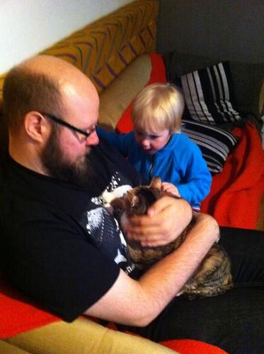 Fredrik, katten och Gusten