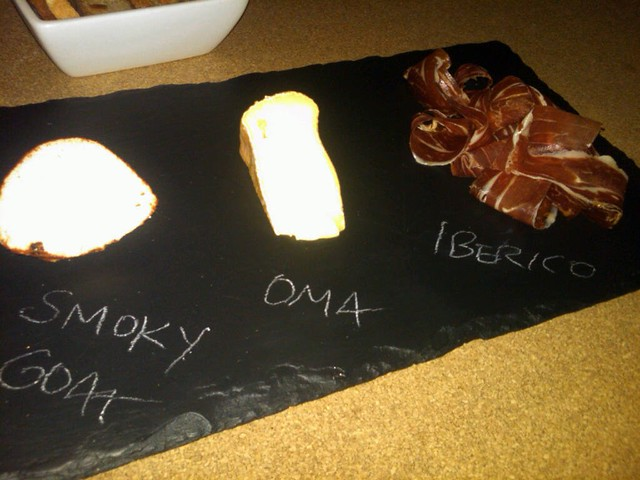 Cheese meat board