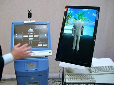 次世代のデジタル・サイネージ関係の実験製品