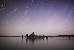 Mono Lake Star Trails (photofanman) Tags: california longexposure light lake water star mono trails yosemite diffuse starlight easternsierra