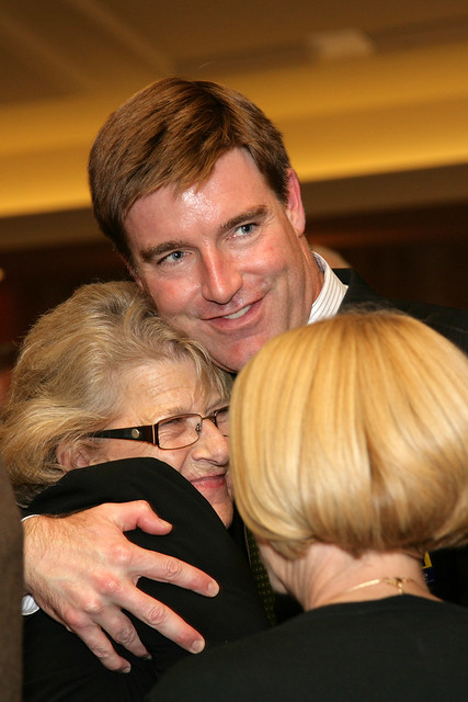 Jack Conway Hugs Supporters