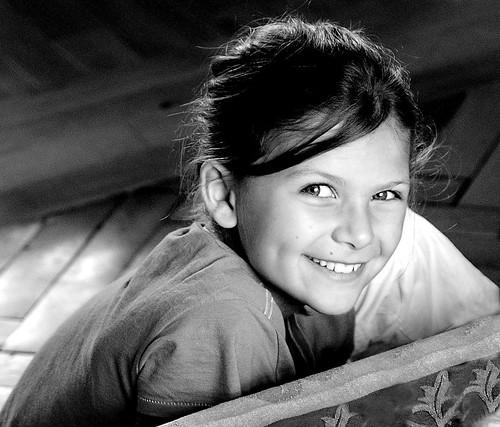 フリー写真素材, 人物, 子供, 少女・女の子, ドイツ人, モノクロ写真,