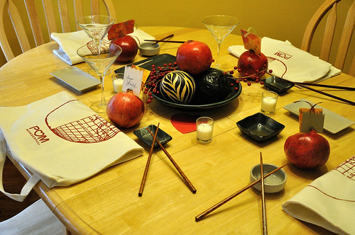 Sushi table settings set