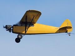 Aerial Sign North Inc - Piper J-5A Cub Cruiser - ? @ Cocoa Beach (MDLPhotoz) Tags: beach sign cub florida north central sigma aerial east airshow fl piper cocoa cruiser inc 2010 50500mm f463 j5a ex50500mmf463apodghsm