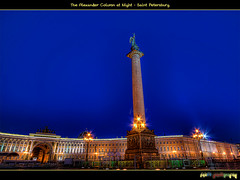 (The Alexander Column at Night) (foje64) Tags: monument angel night canon russia victory napoleon bluehour alexander saintpetersburg hdr emperor palacesquare alexandercolumn photoshopelements  tsar    generalstaff photomatix efs1022mmf3545usm canoneos500d   mygearandme mygearandmepremium
