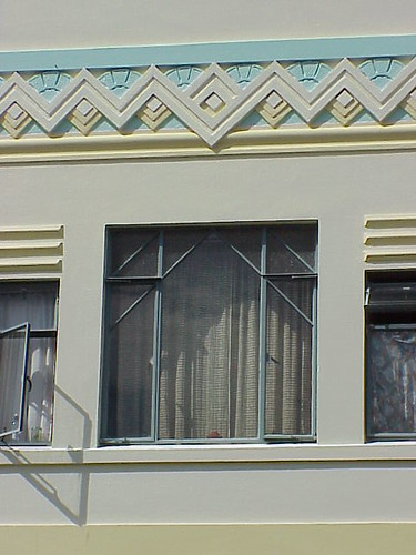 Window, Kidson's Corner Building, Napier