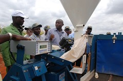 High-throughput sheller used for drought screening, Kiboko, Kenya (CIMMYT) Tags: africa field corn experimental kenya african group machine visit demonstration machinery research drought kari campo grupo precision fieldday showing seleccin examinando partnership maize kenia partner screening collaboration plot visita scientist sequa researcher mquina sheller africano observing demonstrating asociacin eastafrica explaining parcela observando examining frica mostrando researchstation maz investigacin colaborador cientfico demostracin colaboracin subsaharanafrica collaborator precisin explicando experimentstation dadecampo asociado demostrando cimmyt investigador desgranadora fricaoriental maquinara fricasubsahariana droughttolerance dtma kenyaagriculturalresearchinstitute tolerancaalasequa estacinexperimental estacindeinvestigacin droughttolerantmaizeforafrica maztoleranteasequaparafrica