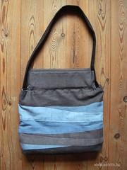 sac big size noir-bleu recto