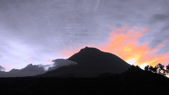 Pico before getting on fire =D ((= Ana =)) Tags: sky colour sunrise landscape pico montain azores aores