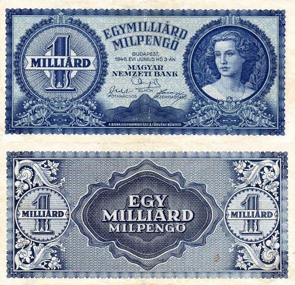 1 Miliarda MilPengő Maďarsko 1946, P131