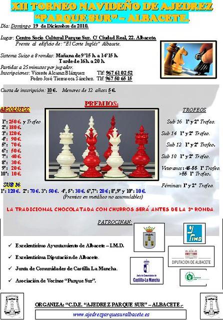 """XII Torneo Navideño """"Ajedrez Parque Sur"""" de Albacete"""