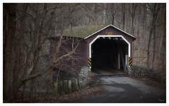 Kurtz's Mill Covered Bridge (Thomas Gehrke) Tags: road bridge trees winter river covered
