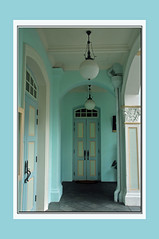 Come enter the pastel world of the Peranakans (IngeHG) Tags: door blue school green museum singapore doors framed pastels manual pillars portico armenianstreet nikond90 327365 theperanakanmuseum 38daystogo ppt3652010 entertheworldoftheperanakans