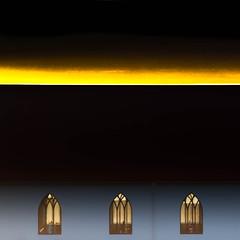 Unholy alliance (Arni J.M.) Tags: windows sky black church yellow geotagged iceland islandia nikon whatnot nikkor geotag garabr sland islande islanda geotags gardabaer d80 nikond80 afsnikkor18135mm 13556ged