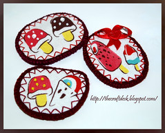 Ice Cream Brooches (The Craft Desk) Tags: desk handmade brooch craft felt icecream romania pal fagyi eniko filc kezimunka